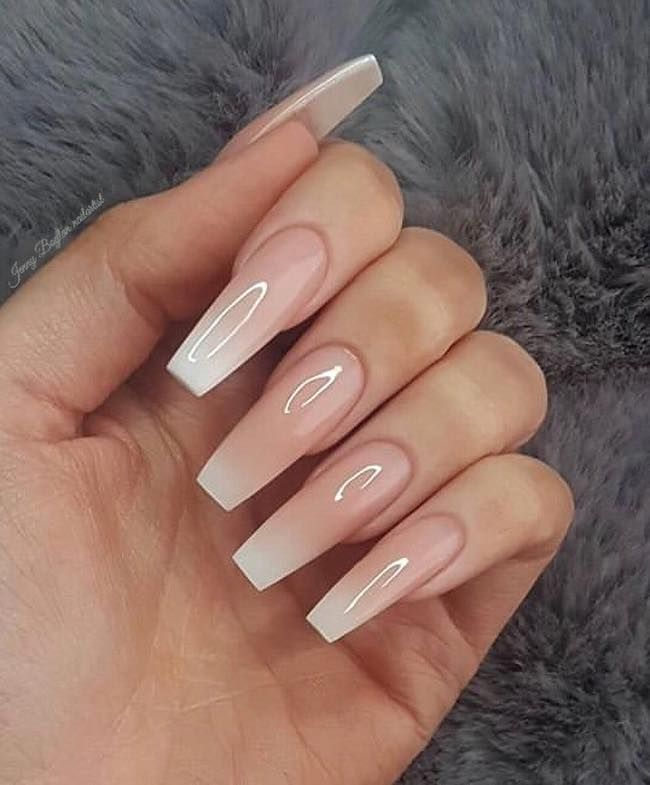 Stunning ombre on long nails
