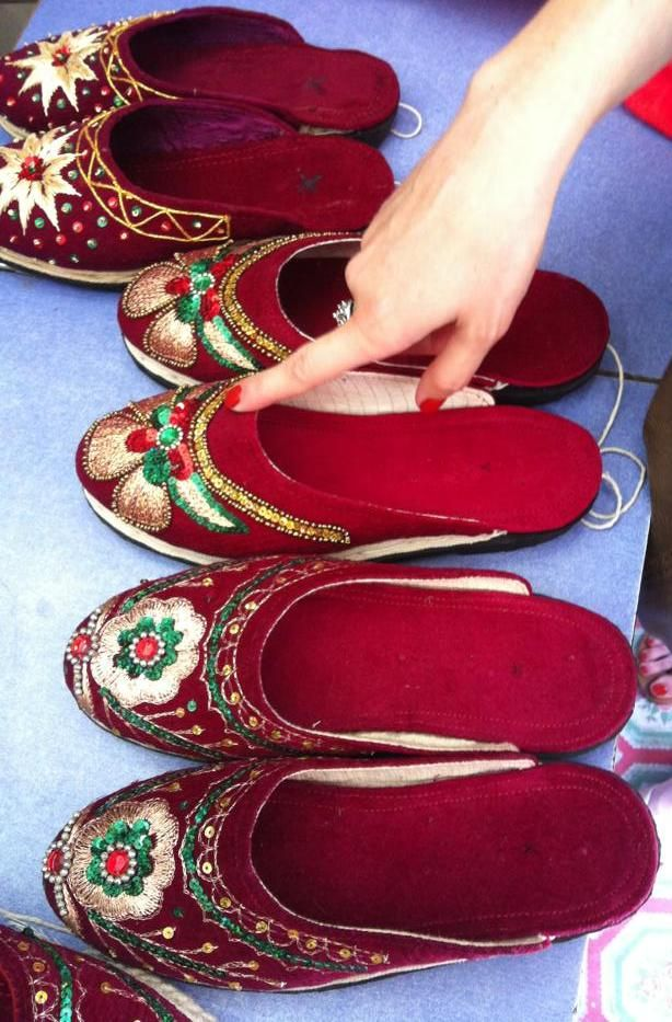 dd621714c18 velvet shoes with gold embroidery are traditional, Nepali wedding ...