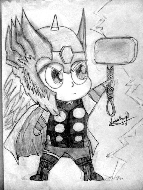 Thor A Lápiz Mis Dibujos En Blanco Y Negro Dibujos Blanco Y