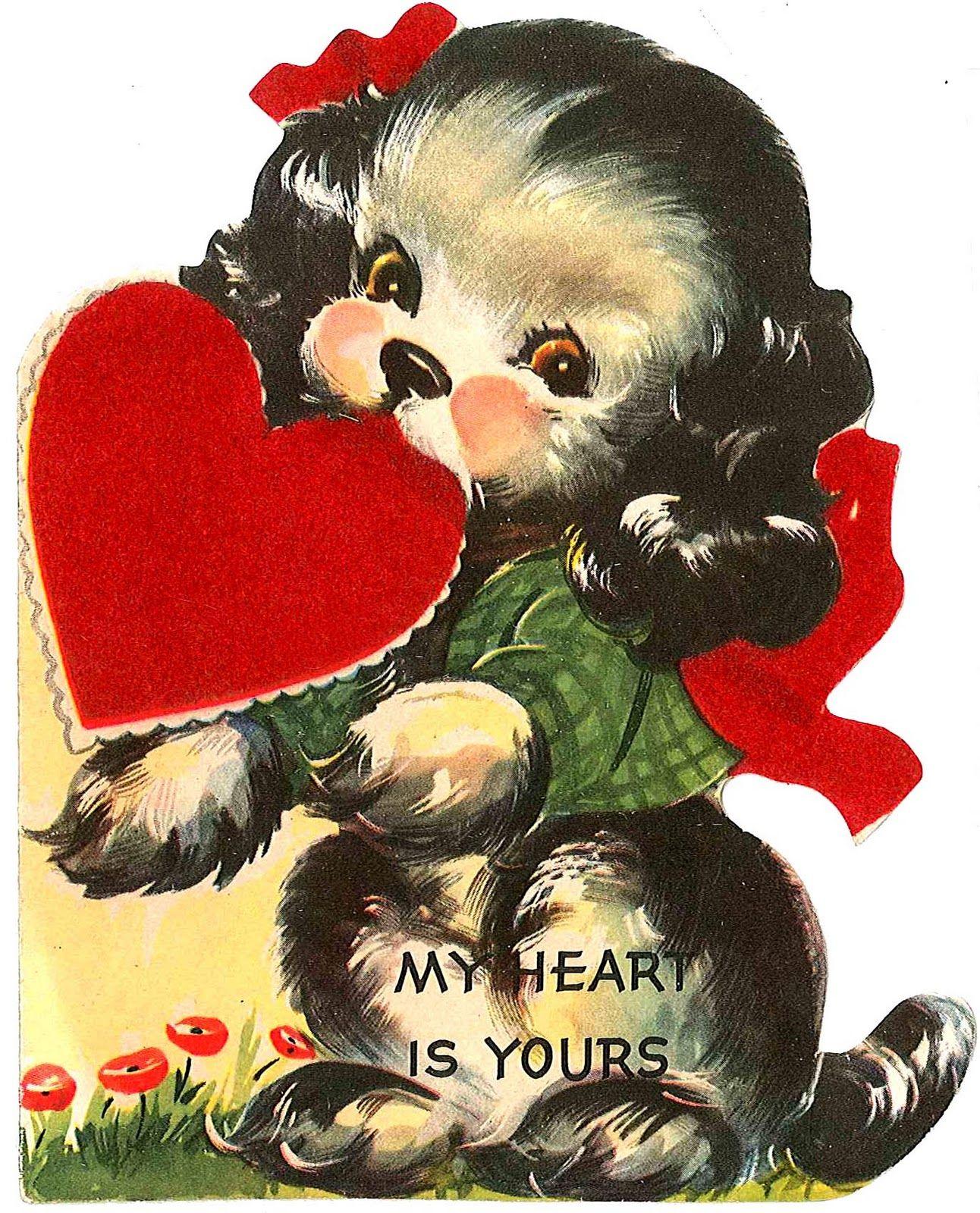 Vintage Valentine cards – Old Fashioned Valentines Cards