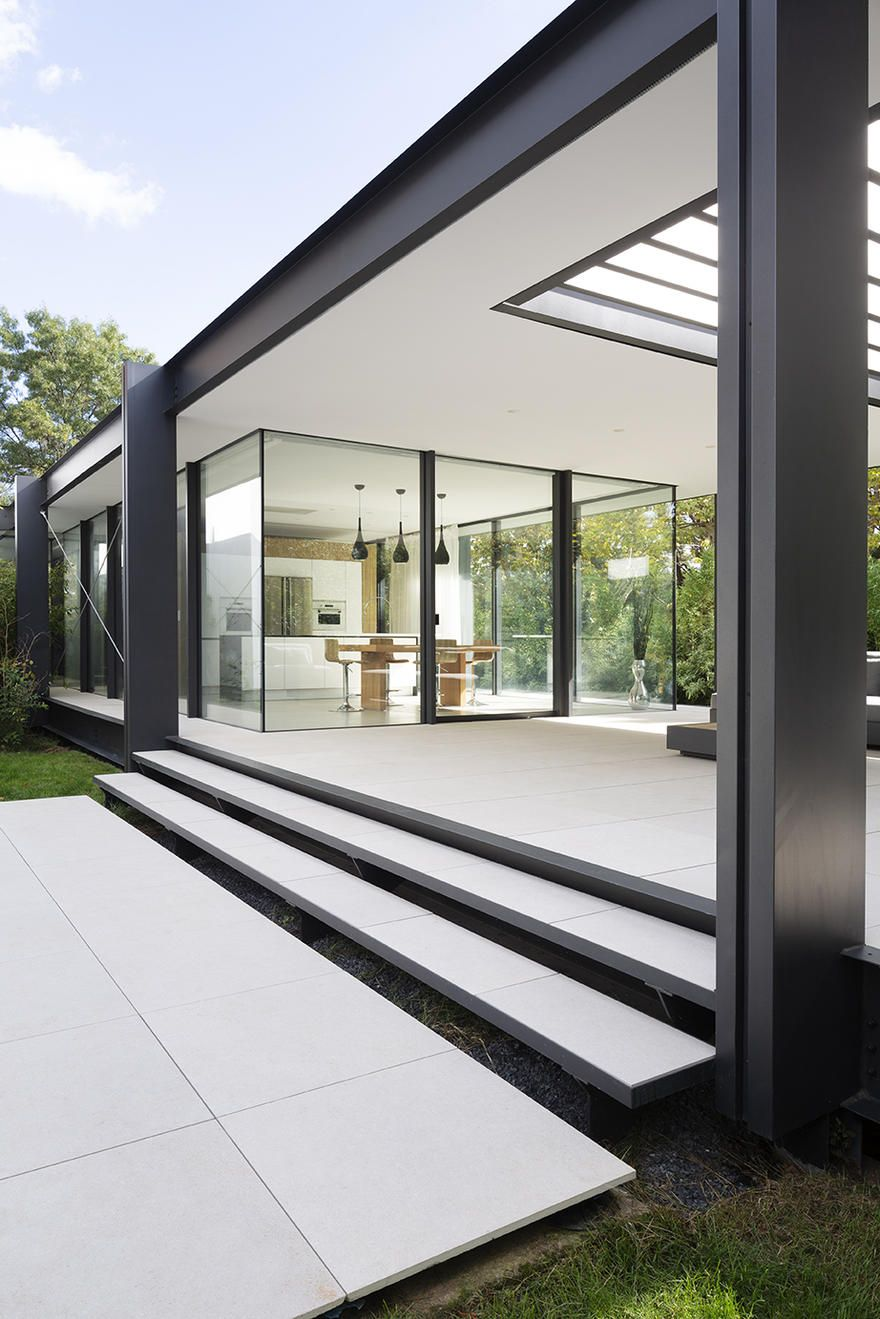 Contemporary Steel Extension Providing Open Living Space on is part of Australian architecture House Videos - Saved onto Architecture Collection in Architecture Category
