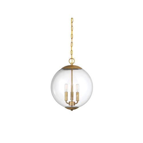 251 First Whittier Natural Brass Three Light Globe Pendant Brass Pendant Light Globe Pendant Light Globe Pendant