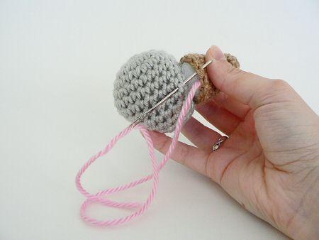 Tutorial Amigurumi : How to join amigurumi hook it amigurumi crochet