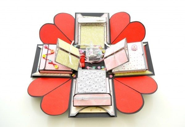 How to make a Valentines Day Explosion Box Card  Mini Albums