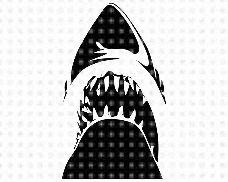Shark Teeth Svg Eps Png Dxf Clipart For Cricut And Etsy Clip Art Svg Dxf