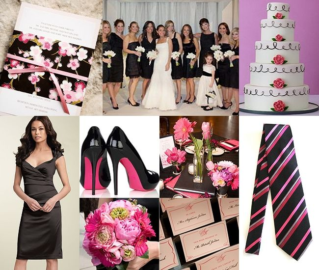 Hot Pink and Black Wedding Theme
