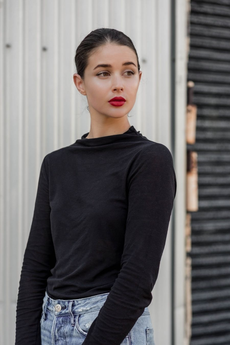 Red Lip Beauty Mbfwa Street Style Harperandharley Red