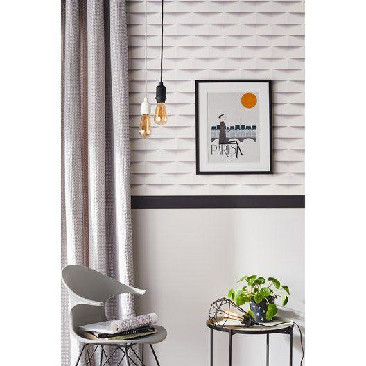 Papier Peint Intisse 3d Origami Blanc Decoration Interieure