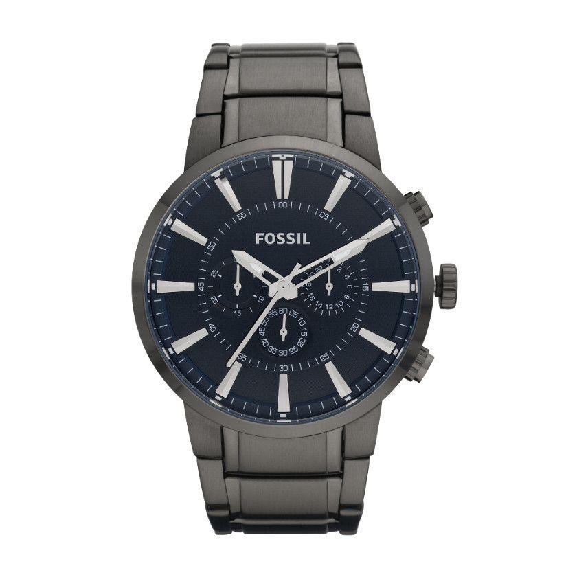 fossil dress stainless steel watch smoke watches fossil dress stainless steel watch smoke