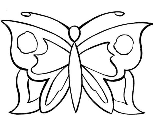butterfly simple pattern butterfly coloring pages - Butterfly Coloring Pages