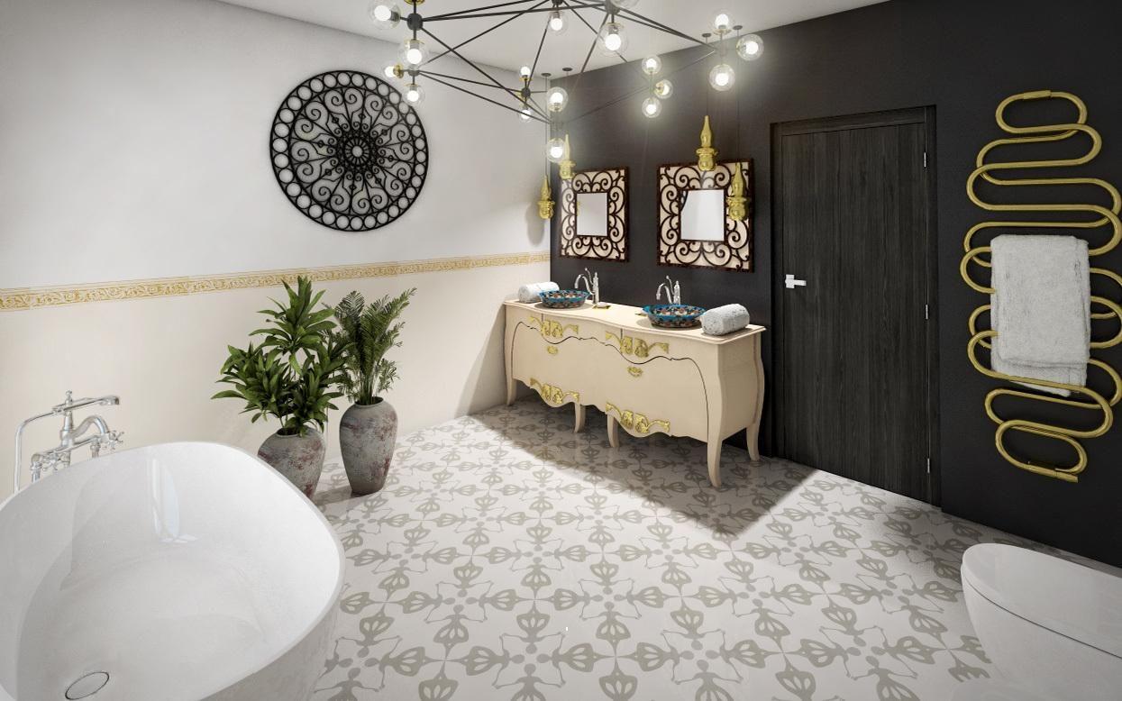 Jagna Płytki Cementowe łazienka Płytki łazienka I Wnętrza