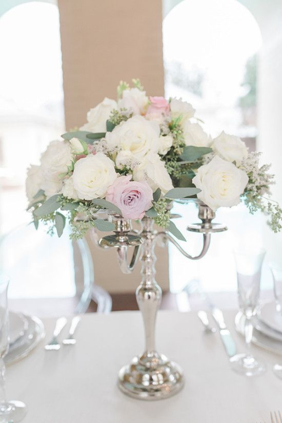 Silver Pink And Crystal Classic Wedding Weddings Flower