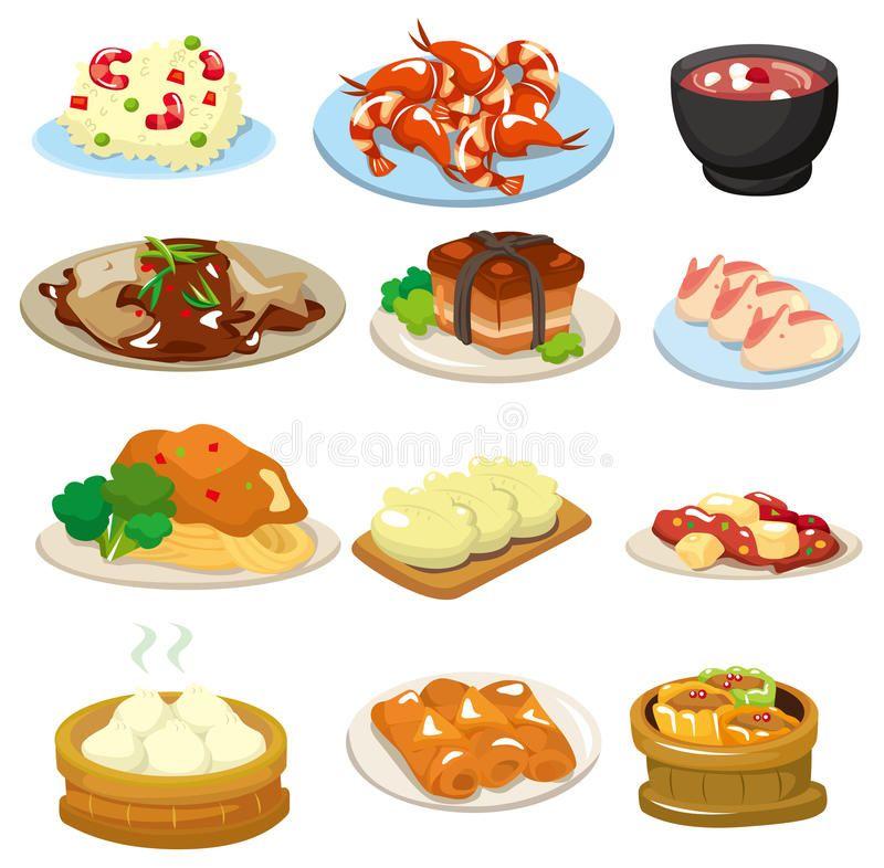 Cartoon Chinese Food Icon Drawing Spon Chinese Cartoon Food Drawing Icon Ad Food Clipart Chinese Food Menu Food