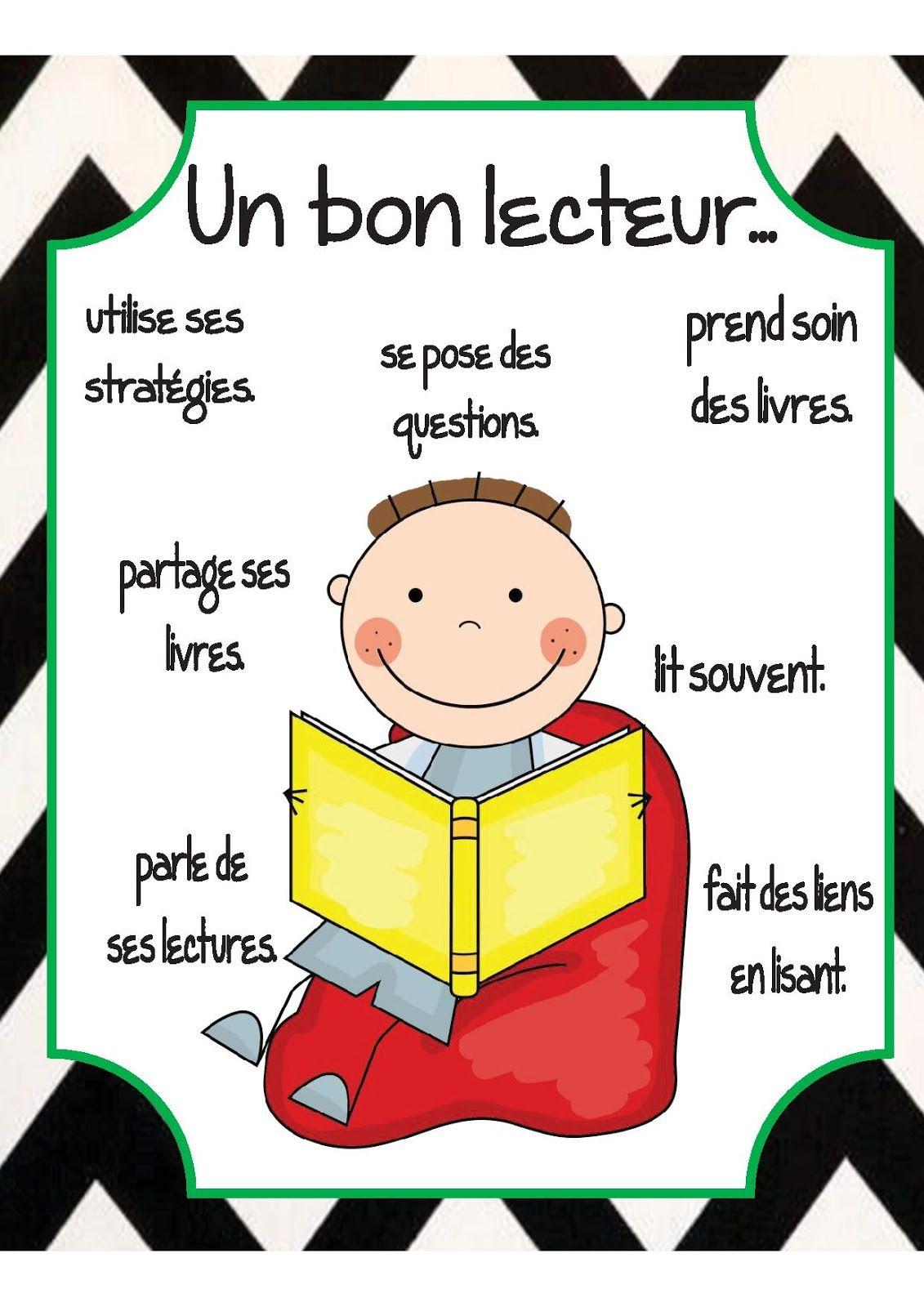 Affiche Un Bon Lecteur Dans La Classe De Karine La Rentr E Des Classes Pinterest La