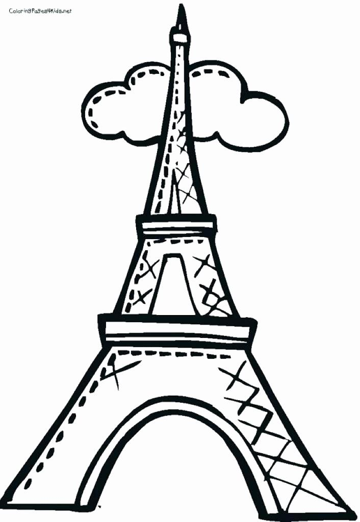 Eiffel Tower Coloring Page Fresh Eiffel Tower Drawing Easy At Getdrawings Eiffel Tower Drawing Easy Eiffel Tower Eiffel Tower Craft