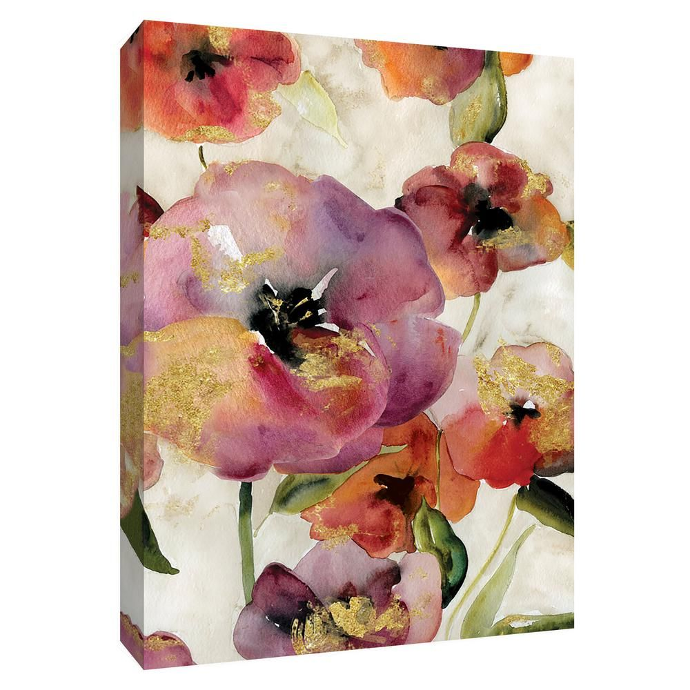 12 Inx10 In Gold Poppy Punch I By Ptm Images Canvas Wall Art Multicolored Wall Canvas Gallery Wrap Canvas Art Gallery Wall