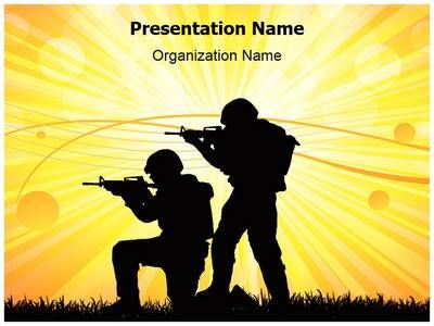military soldiers war powerpoint template is one of the best, Presentation templates