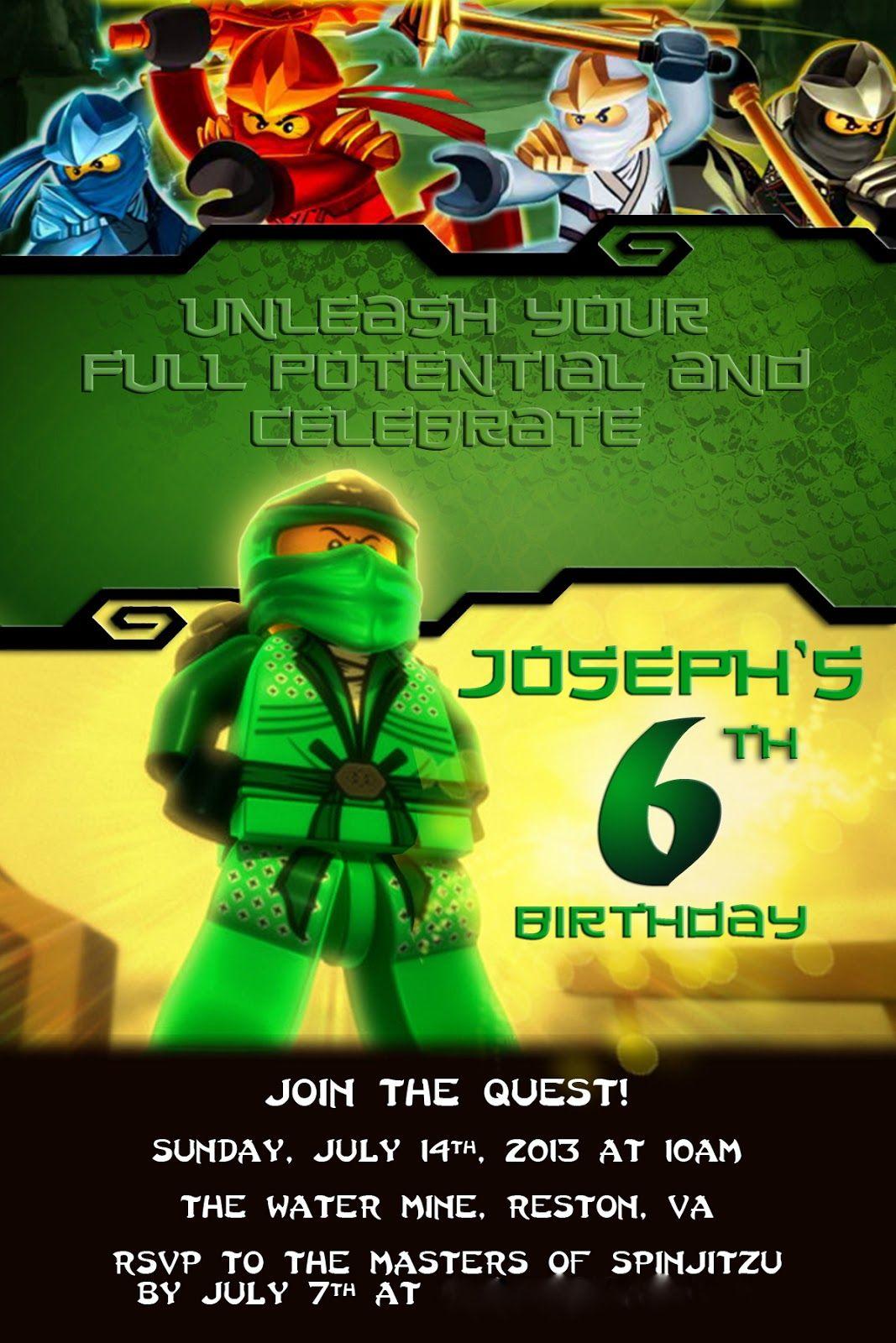 Alton Boys Josephs Ninjago Birthday Party Jackson Ninjago