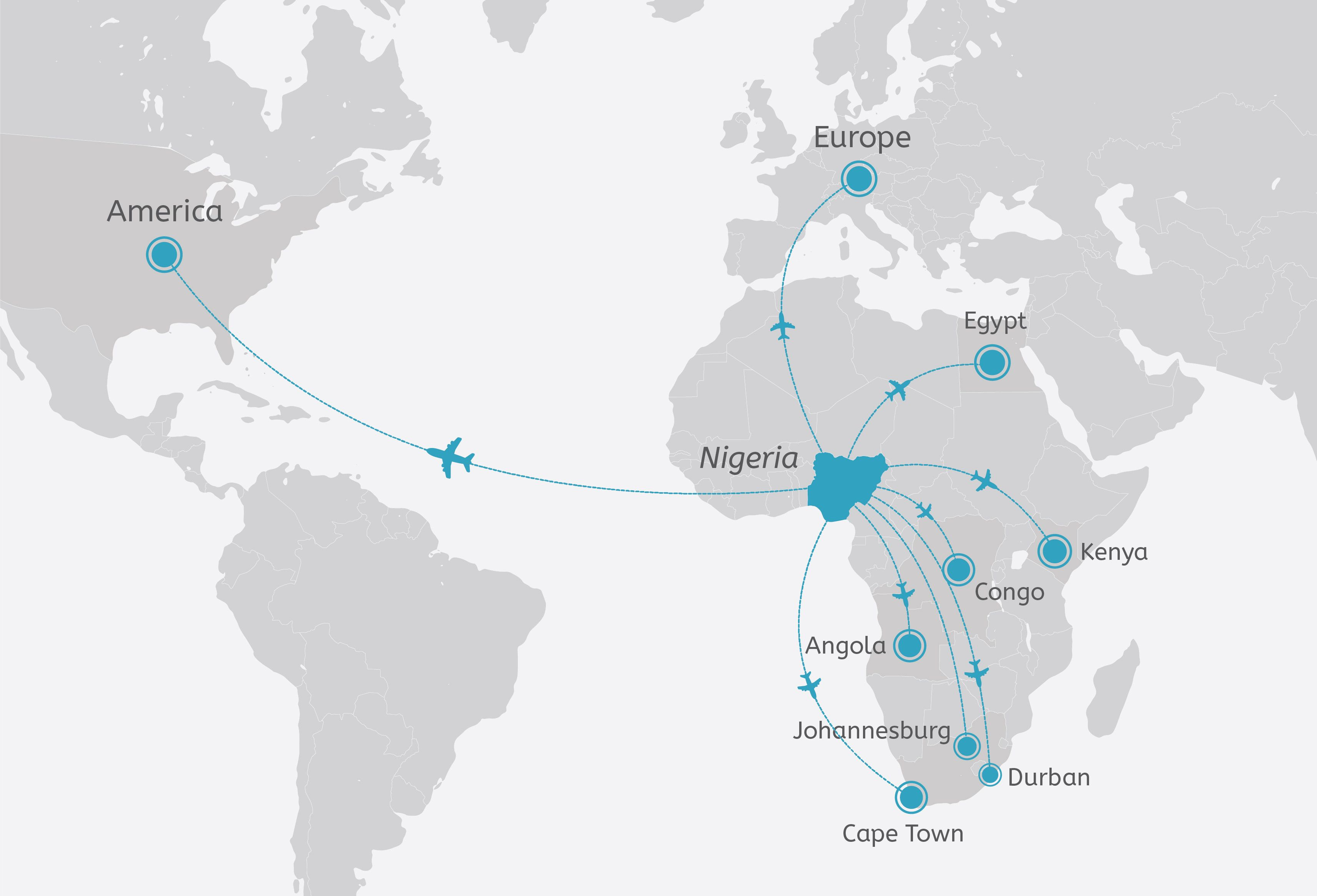 Search for cheap flights from Nigeria to domestic and