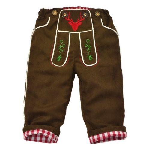 Bekannt Kidstracht-Stofflederhose-Lederhose-lang-Babyhose-braun-Gr-62-86 EJ05