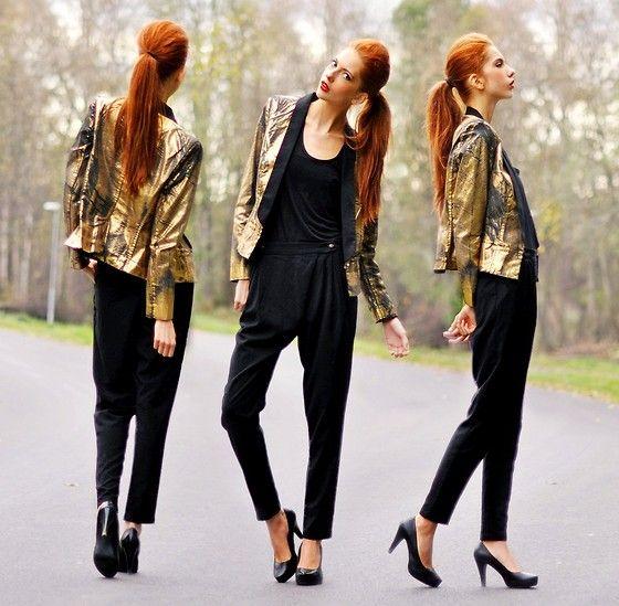 PantsDin TopBik ShoesGold Bok Mango Sko BlazerMango Golden P0knO8w