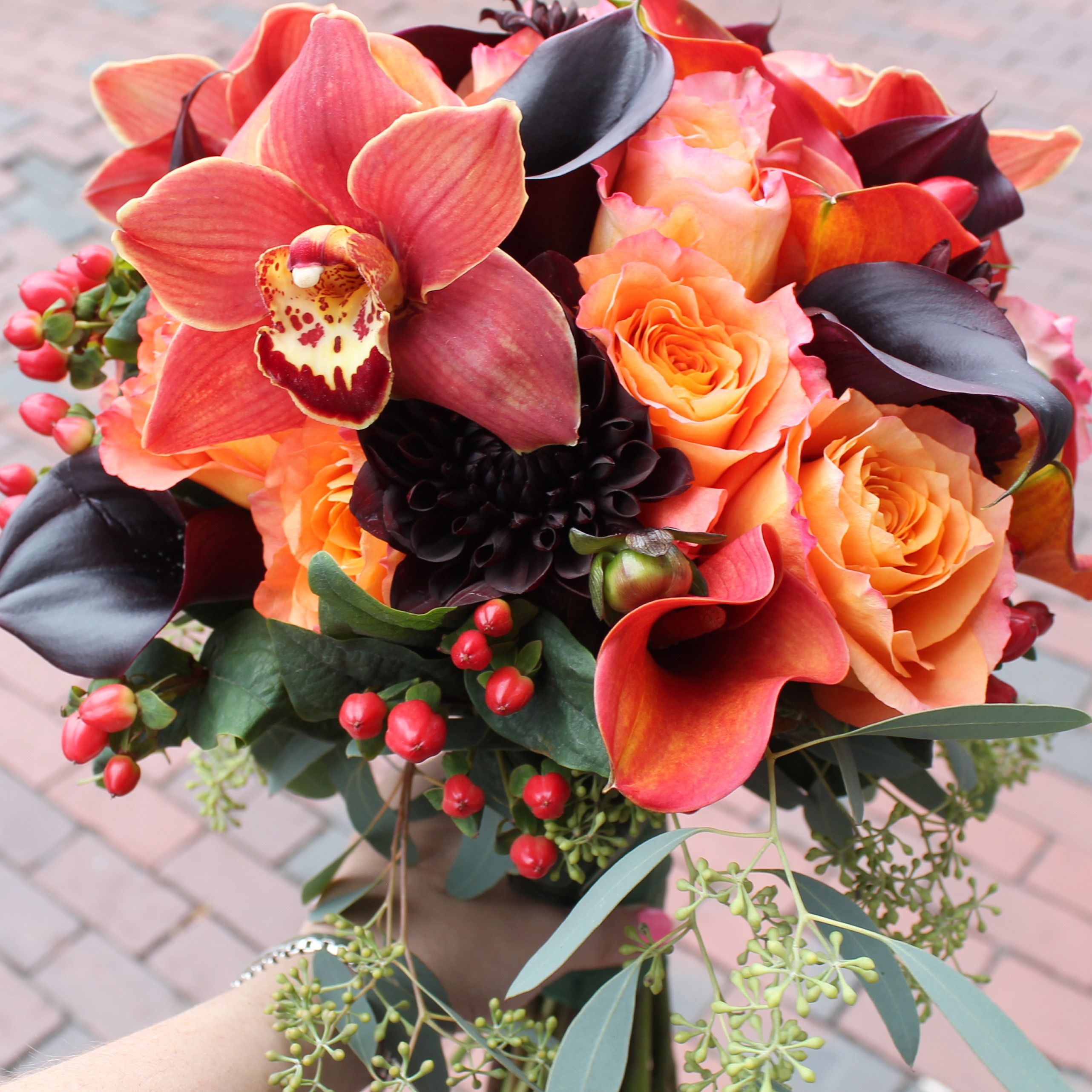 Jewel Tones Flowers For Fall Weddings