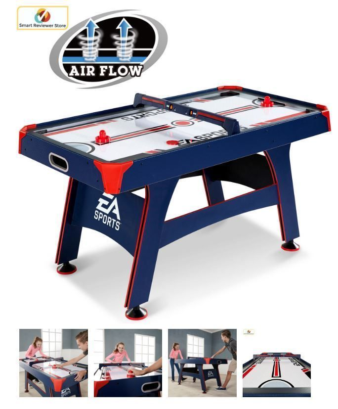 60 Inch Air Hockey Table Ea Sports With Overhead Electronic Scorer Sound Effects Easports Ea Sports Air Hockey Air Hockey Table