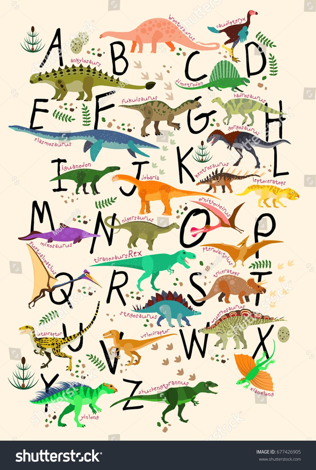 Learning Alphabets With Dinosaurs Abc Dinosaurs