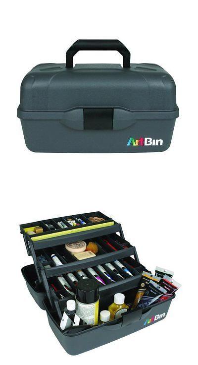 Other Craft Storage 183187: Artbin Essentials 3 Tray Box  Black Art Supply  Storage