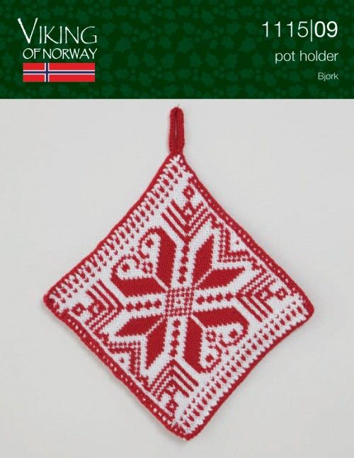 Bjork Pot Holder 1115 09 From Viking Of Norway At Knittingfever