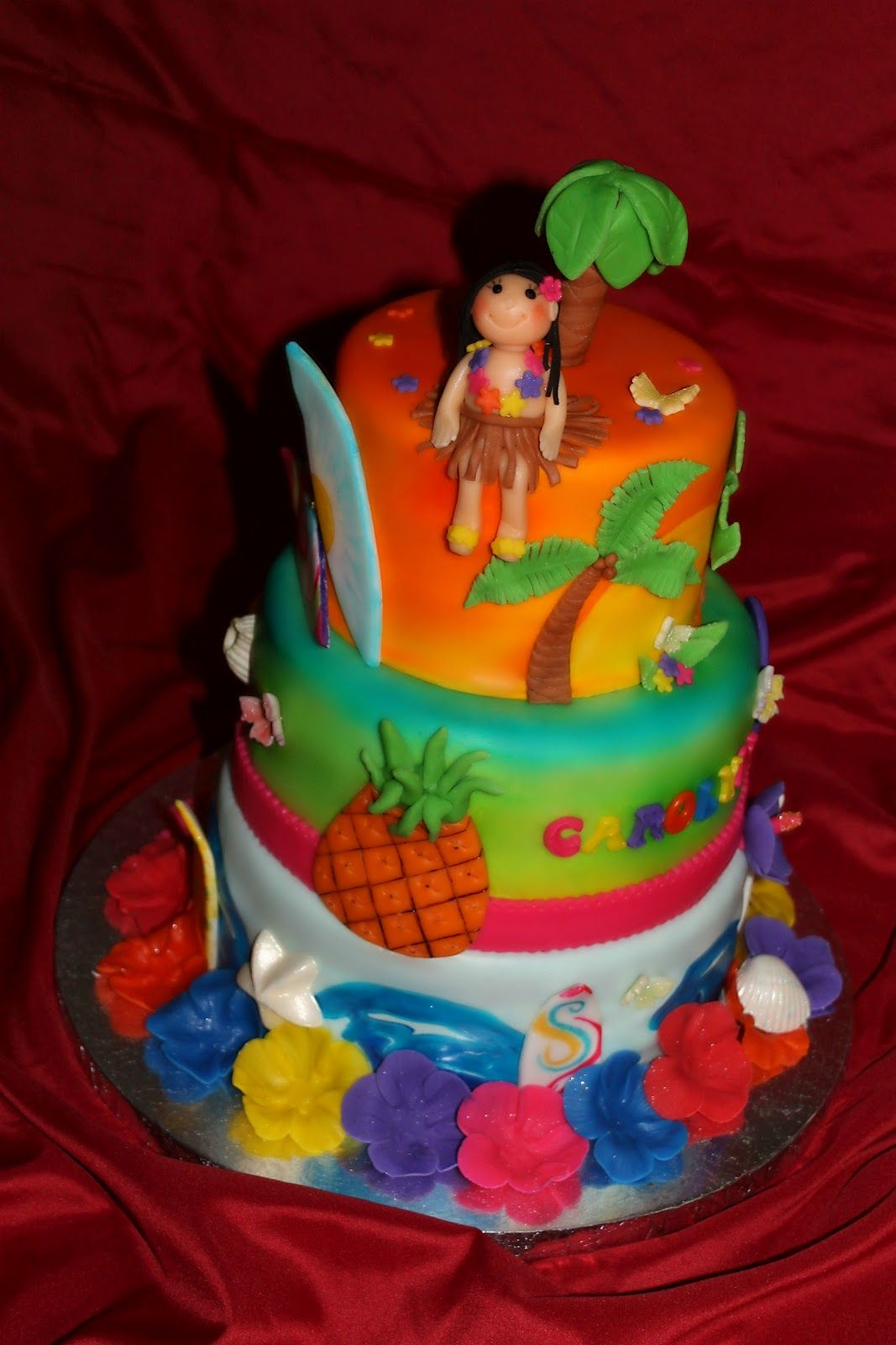 Luau Birthday Cakes Girls My Cake Sweet Dreams Luau Birthday