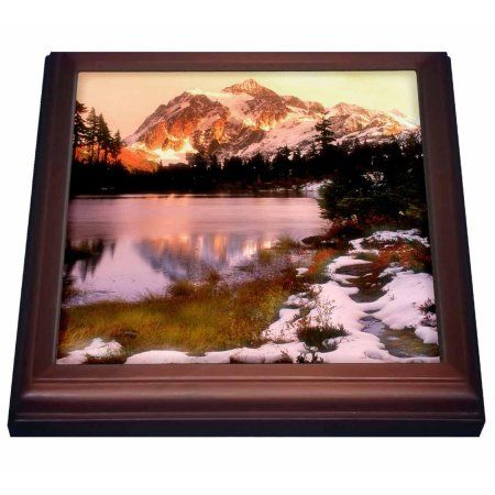 3dRose Mount Shuksan in Mt Baker National Park, Washington - US48 RDU0004 - Richard Duval, Trivet with Ceramic Tile, 8 by 8-inch