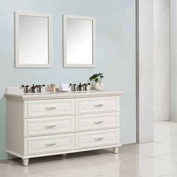 Cypress Hills \u2013 Meuble-lavabo Clarke blanc cristal de 61 po