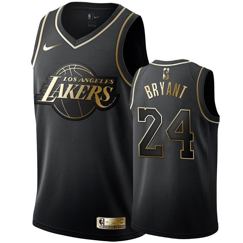 Kobe Bryant Black 'Golden Edition' LA Lakers Jersey - supports ...
