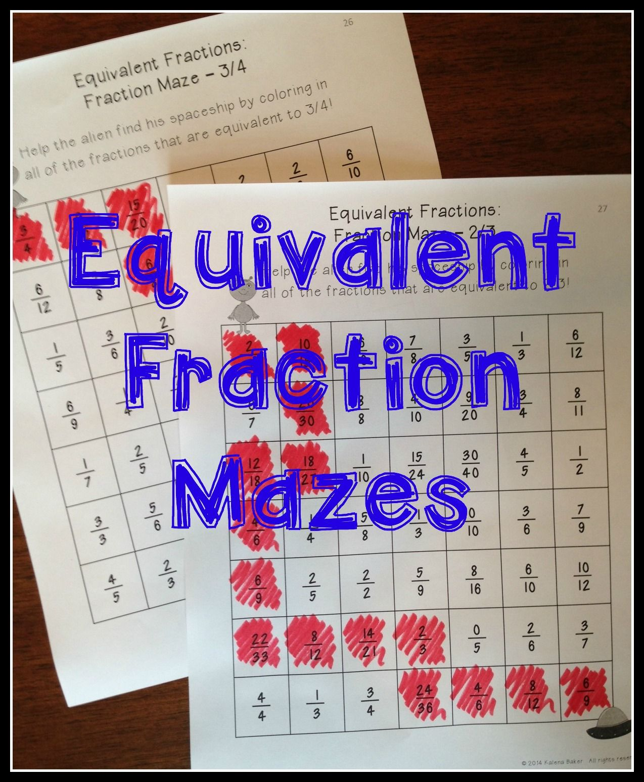 Equivalent Fractions Centers And Activities A Fun Unit To