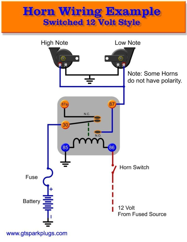 Horn Relay Diagram 12 Volt Schematic 840 Depict Wiring For ...