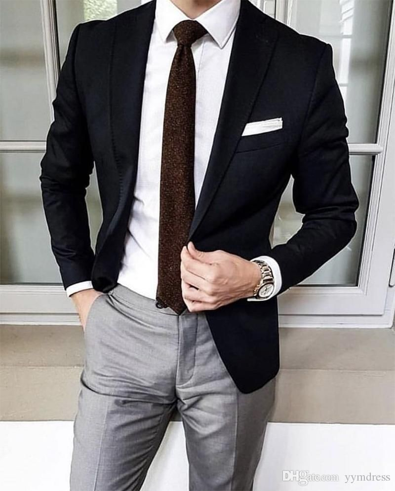 Black Wedding Groom Tuxedos 2019 Suit Separates Groomsmen Suits Mens  Business Special Occasion Prom Party Suits White Dinner Jacket Best Suits  For Men From Yymd… | Suits men business, Black suit men,
