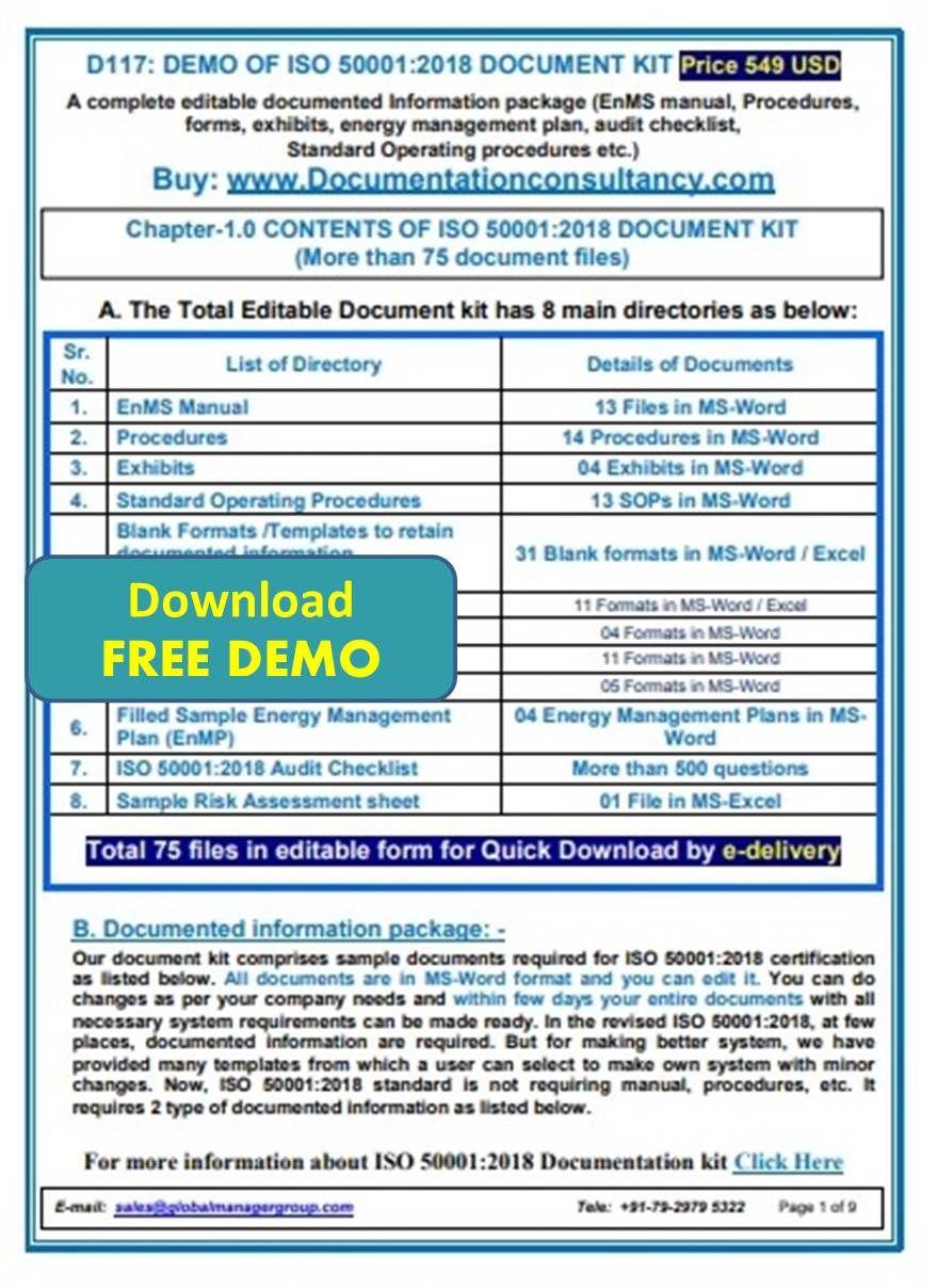ISO 500012018 Documentation Toolkit Energy management