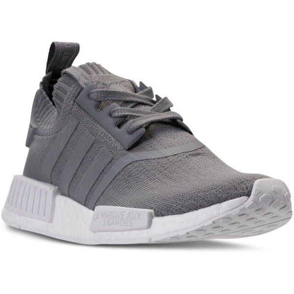 82486f54c adidas Women s Nmd R1 Primeknit Casual Sneakers from Finish Line ( 170) ❤  liked on Polyvore featuring shoes