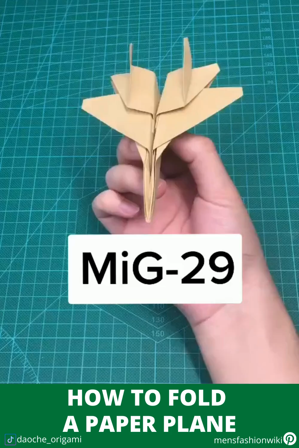 How to fold a paper plane - Folding MiG-29
