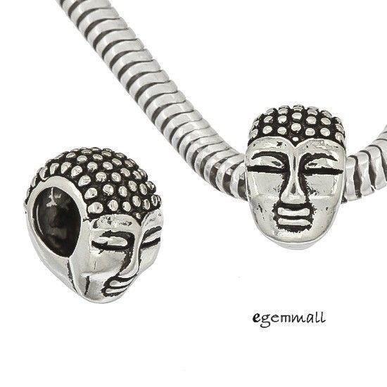 1PC Antique Sterling Silver Buddha European Charm Bead #97541 in Jewelry & Watches, Fashion Jewelry, Charms & Charm Bracelets | eBay