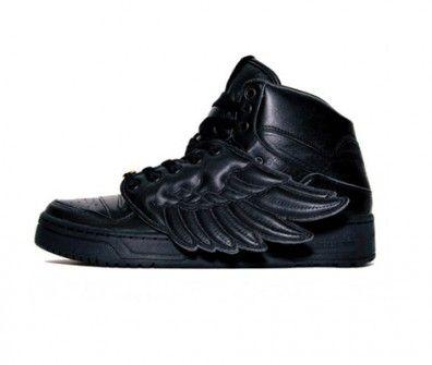new style f31df 1affe Jeremy Scott - Adidas con Alas en charol negro