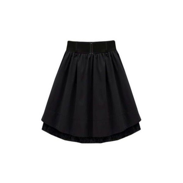 black lace pleated skirt▲