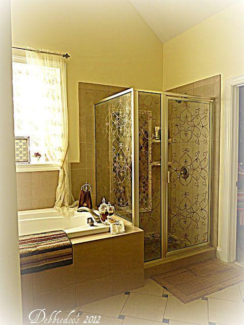 Diy Stenciling A Shower Door