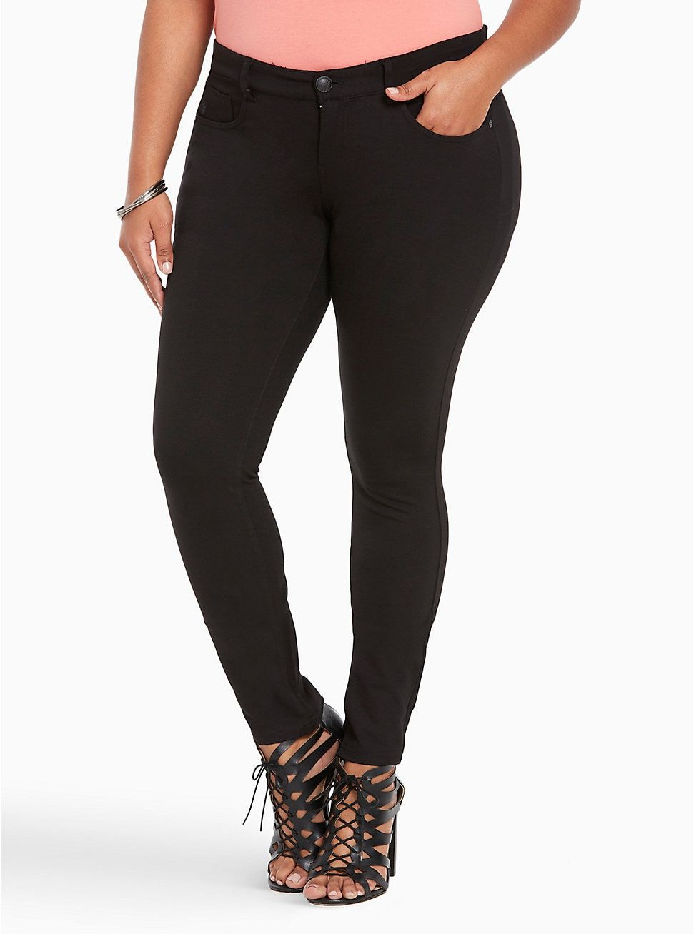 da20af319d0 Plus Size Studio Ponte Stretch Skinny Pant - Black