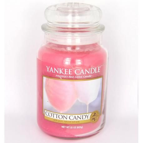 Bougie parfum ee grande jarre cotton candy yankee candle for Meuble yankee candle