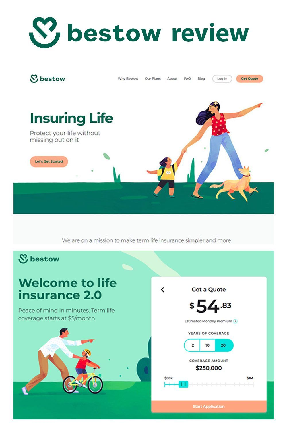 Bestow Review Get Affordable Term Life Insurance Online Life