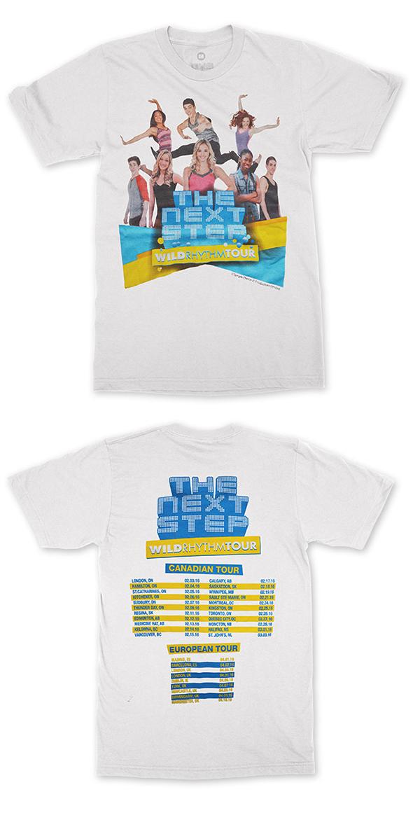 The Next Step 2016 - Wild Rhythm - Official Tour T-Shirt - White - FAMILY