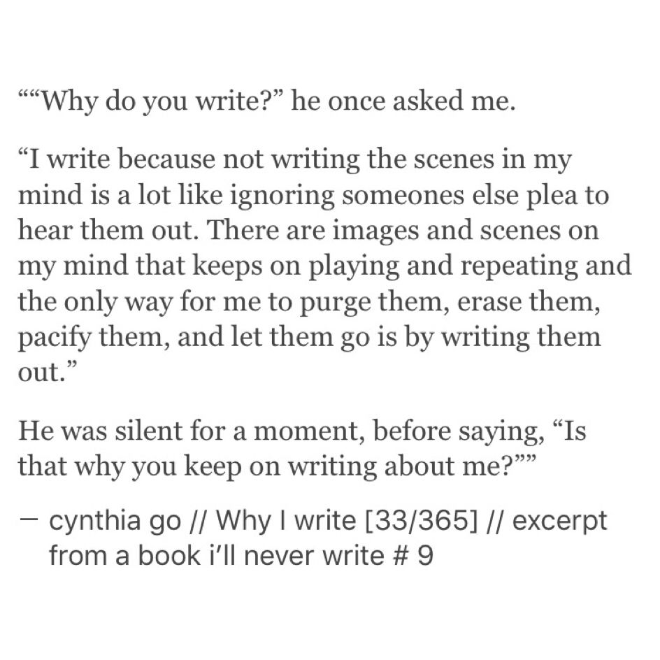 excerpt from a book i'll never write - cynthia go, quotes, words
