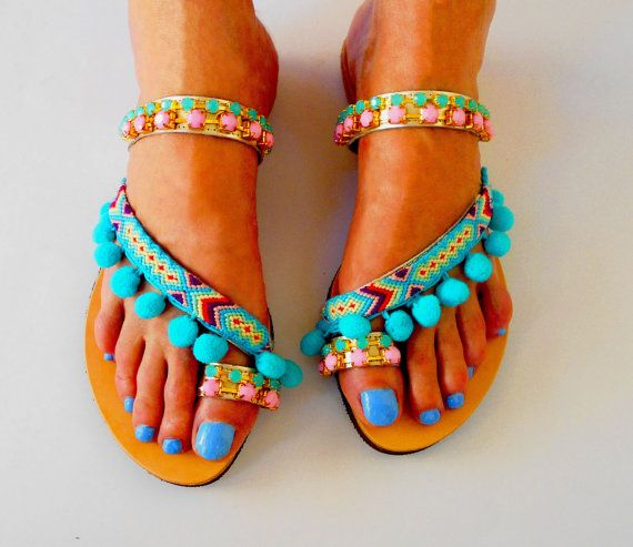 06be35190ee Pin by Maria Salachora on DIY sandals in 2019   Sandals, Shoes, Footwear
